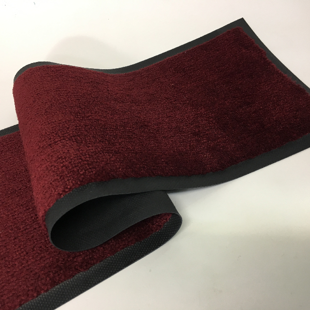 BAR0123 BAR MAT, Burgundy Rubber Mat $10