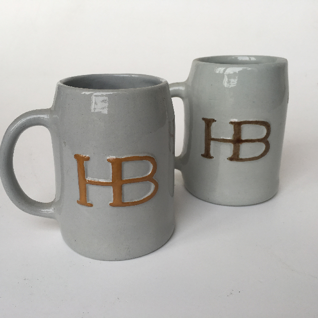 BEE0006 BEER STEIN, Grey HB $3.75