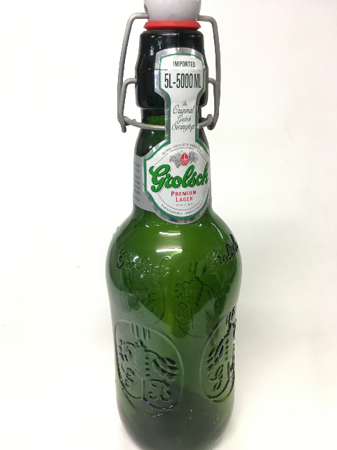 BOT0035 BOTTLE, Ex Large Grolsch Beer Bottle $12.50