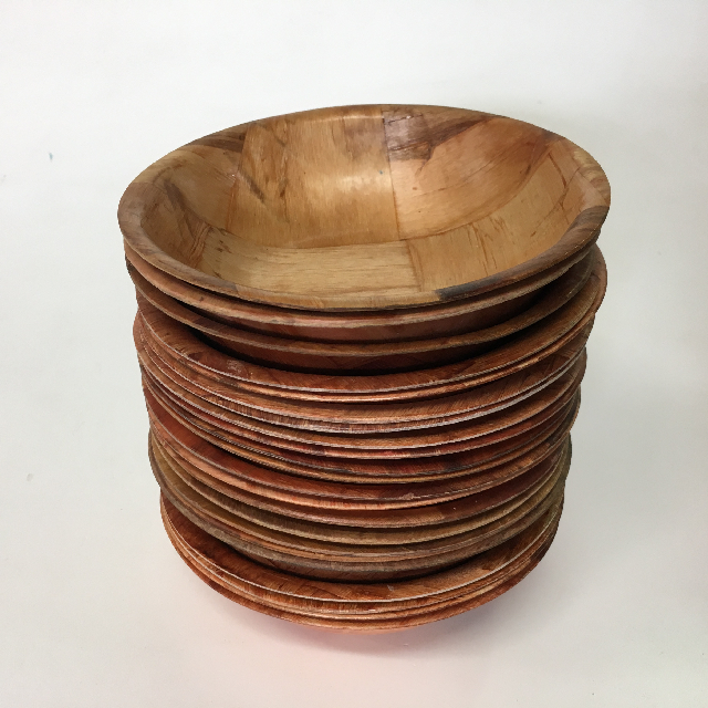 BOW0025 BOWL, Wood Serving Bowl - Small $1.25