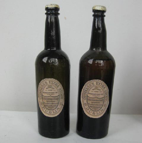 BOT0026 BOTTLE, Brown Guinness (Vintage Label) $3.75