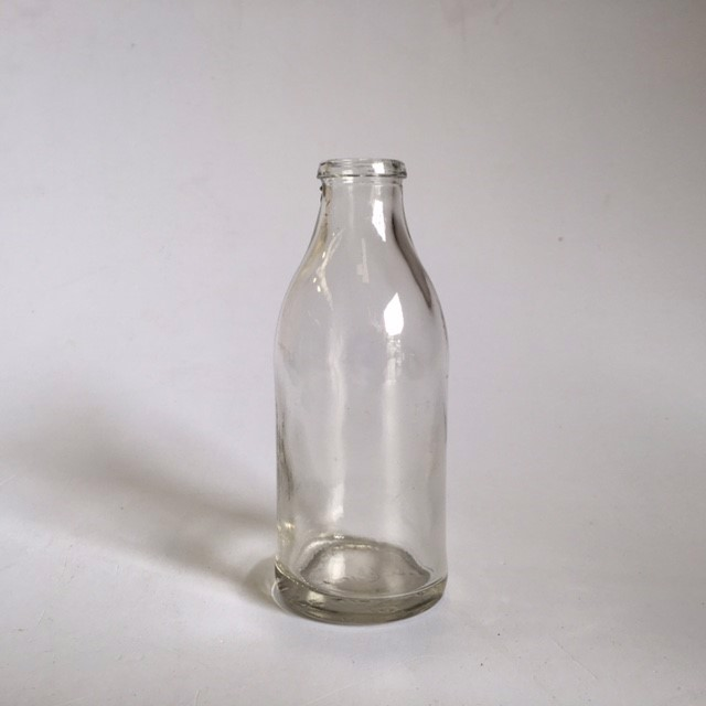 BOT0038 BOTTLE, Clear Milk Style Small 12.5cm $1