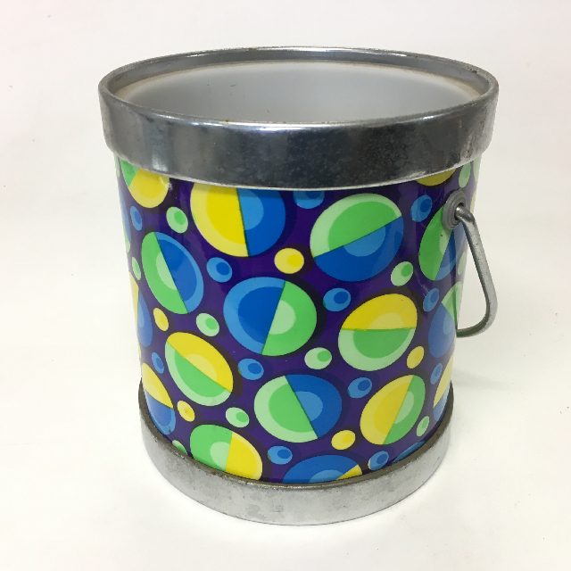 ICE0025 ICE BUCKET, 1960's Purple Blue Yellow Pattern $3.75