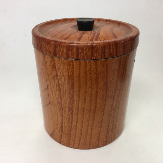ICE0028 ICE BUCKET, 1970's Brown Faux Woodgrain $3.75