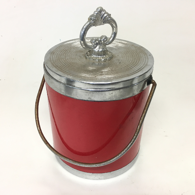 ICE0033 ICE BUCKET, Red w Silver Lid $3.75