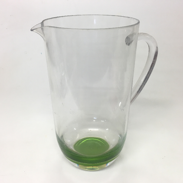 JUG0020 JUG, Clear Plastic w Green Base $5