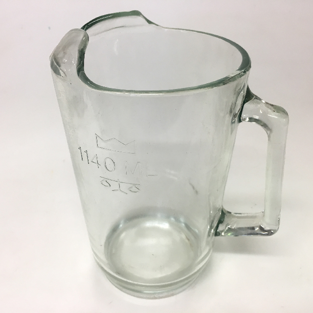 JUG0025 JUG, Glass Beer Jug 1140ml $7.50