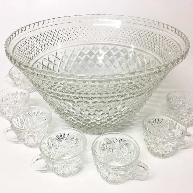 PUN0053 PUNCH BOWL, Glass - Cutglass $12.50