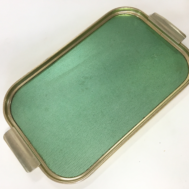 TRA0040 TRAY, 1950's Gold Green Anodised $6.25