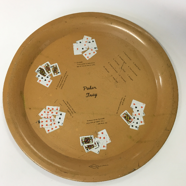TRA0041 TRAY, Beige Poker Tray $5