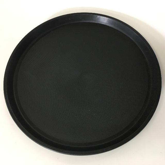 TRA0025 TRAY, Black Cafe Bar Style - Round $6.25