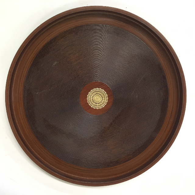 TRA0042 TRAY, Brown Bakelite $10