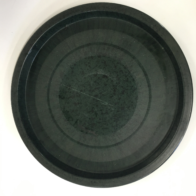 TRA0045 TRAY, Dark Green Black Bakelite $10