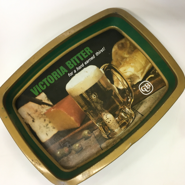 TRA0046 TRAY, Green Gold Victoria Bitter $7.50