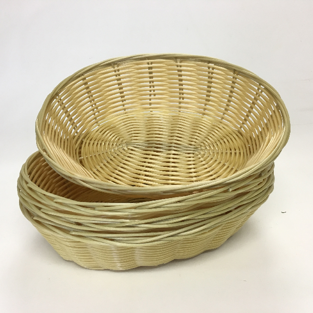 BAS0161 BASKET, Plastic Wicker Chip Bowl (Style 2) $1.25