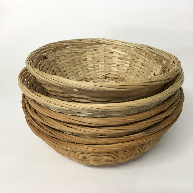 BAS0159 BASKET, Wicker Chip Bowl $1.25