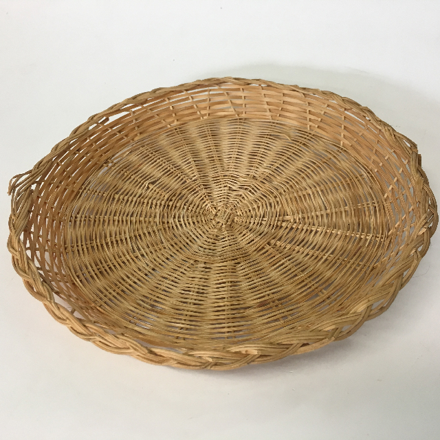 BAS0160 BASKET, Wicker Plate Large $2