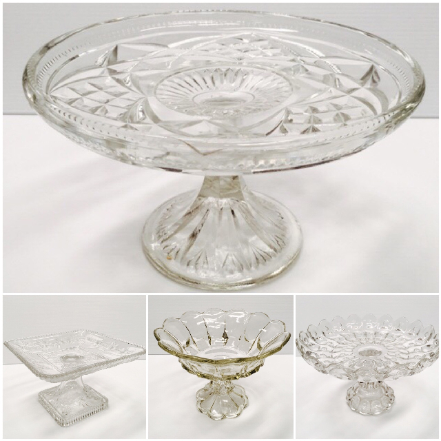 CAK0023 CAKE STAND, Glass Assorted $7.50