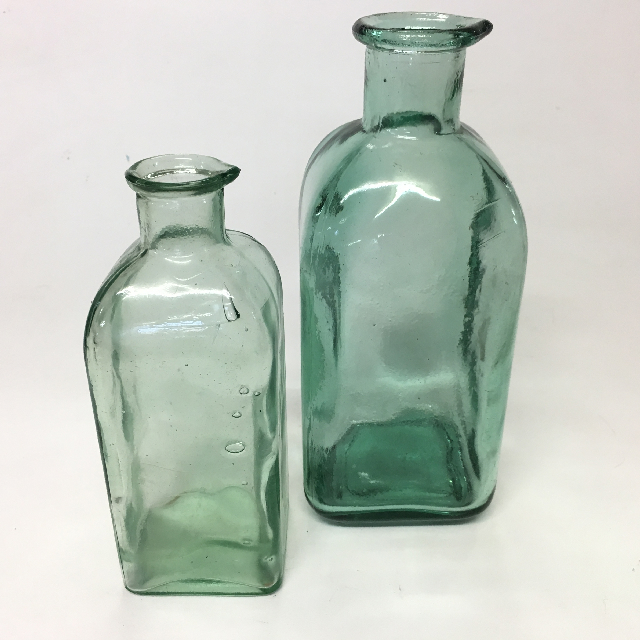 CON0009 CONDIMENT BOTTLE, Recycled Green Glass - Assorted $3.75