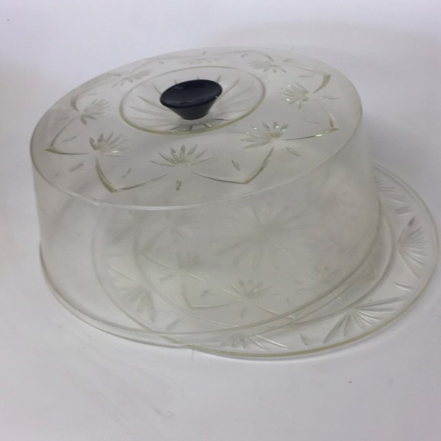 CAK0021 CAKE COVER, Etched Set w Plate $5
