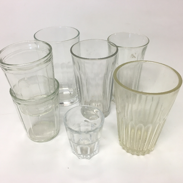 GLA0055 GLASSWARE, Coffee Glass - Assorted $1.50