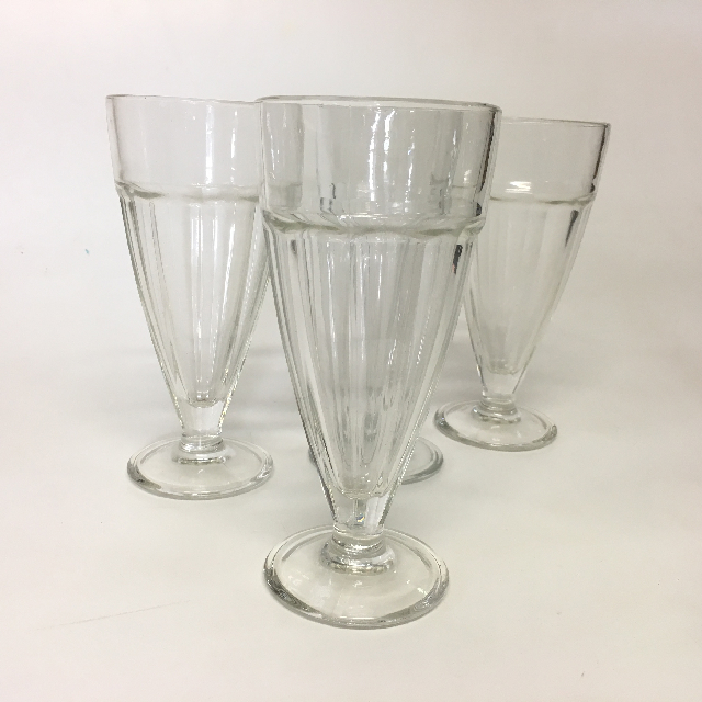 GLA0053 GLASSWARE, Milkshake Glass - Retro $2.50