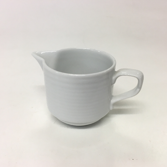 JUG0016 JUG, Milk Jug - White Ceramic Small $2.50