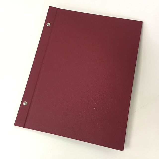 MEN0006 MENU, Burgundy A4 Hardcover $3.75