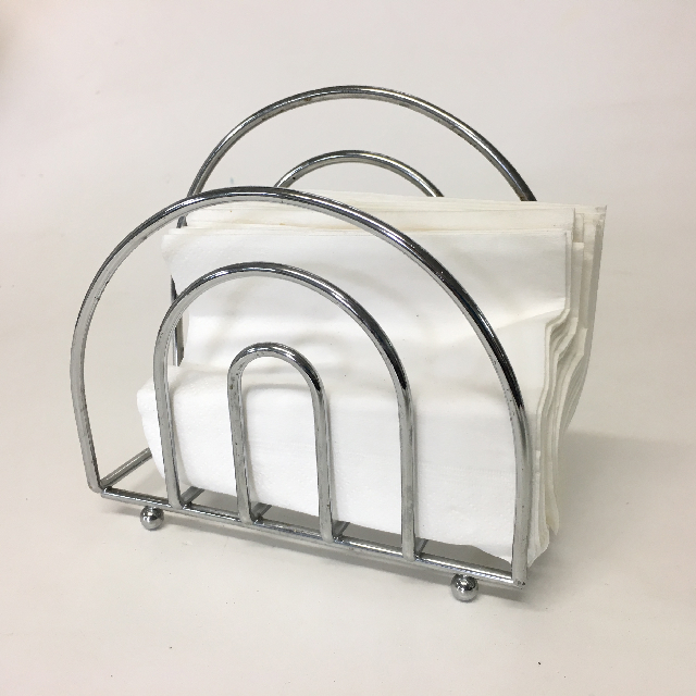 NAP0003 NAPKIN HOLDER, Chrome Arch $3.75