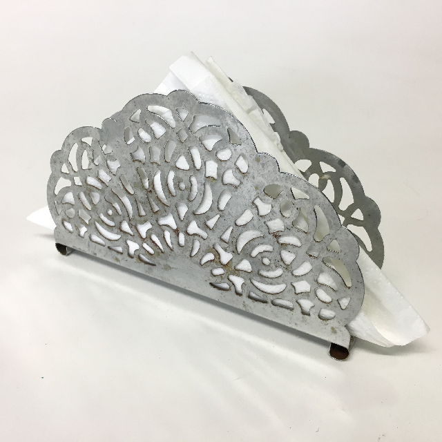 NAP0004 NAPKIN HOLDER, Chrome Lace Style $3.75