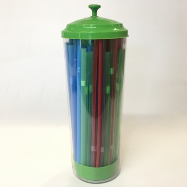 STR0204 STRAW DISPENSER, Green Plastic $6.25