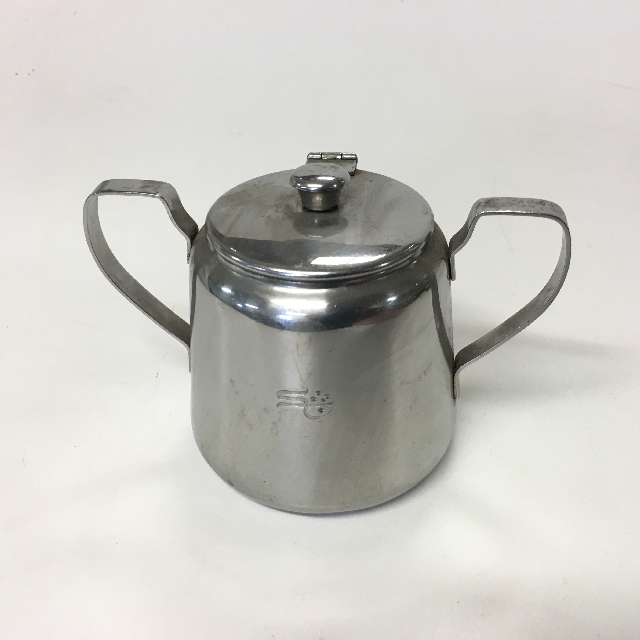 SUG0010 SUGAR BOWL, Stainless Steel w Handles $3.75