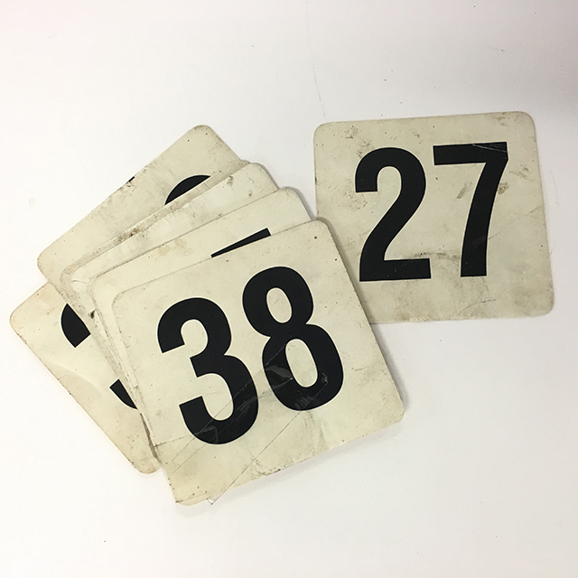 TAB0186 TABLE NUMBERS, Black On White (Aged) $1
