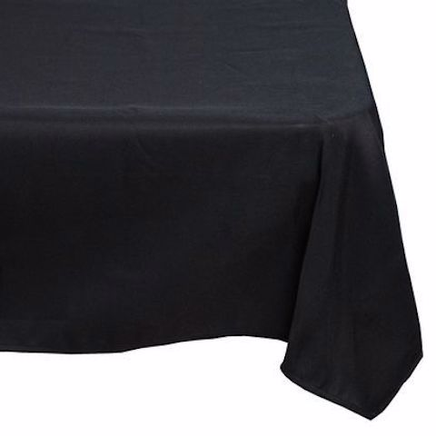 TAB0124 TABLECLOTH, Black 2.1m Square $20