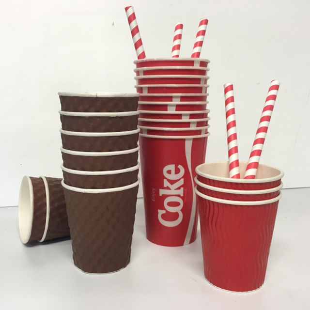 TAK0001 TAKE AWAY CUPS, Assorted $0.15