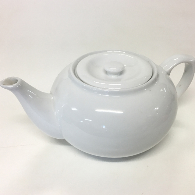 TEA0022 TEA POT, White Ceramic - Large $5