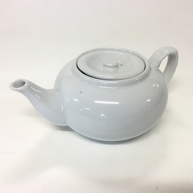 TEA0024 TEA POT, White Ceramic - Small $3.75