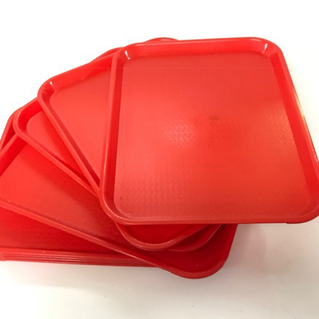 TRA0028 TRAY, Red Cafe Canteen Style $3.75