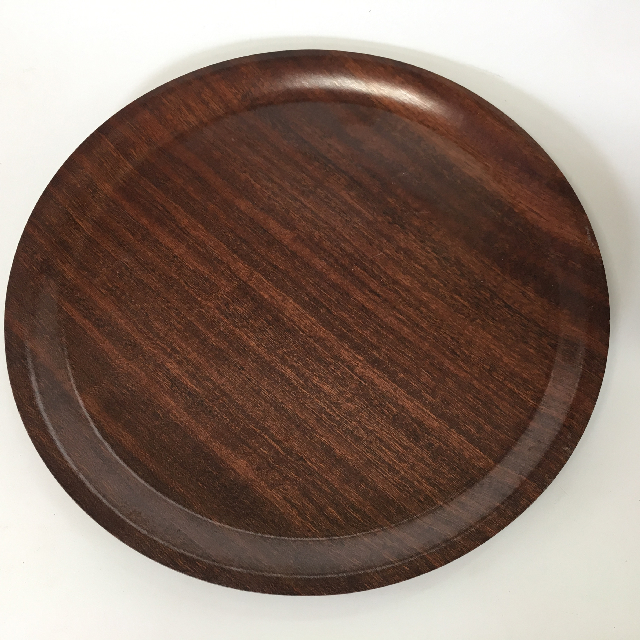 TRA0031 TRAY, Timber Veneer Cafe Canteen Style - Round $5