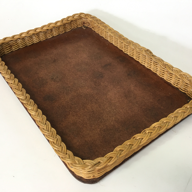 TRA0034 TRAY, Wicker & Timber Cafe Style $6.25