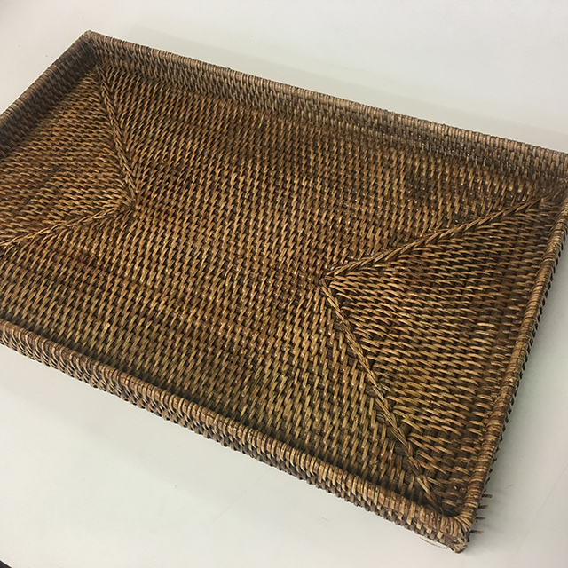 TRA0035 TRAY, Wicker Or Rattan - Large $11.25