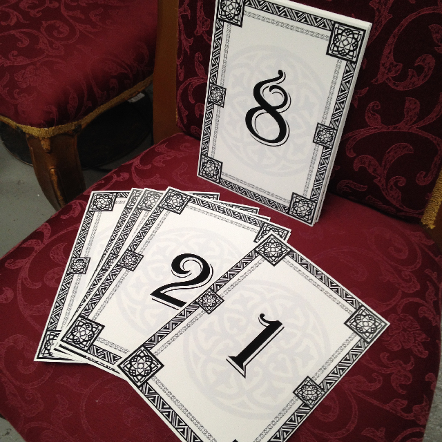 TAB0184 TABLE NUMBERS, Arabian Motif A4 $1