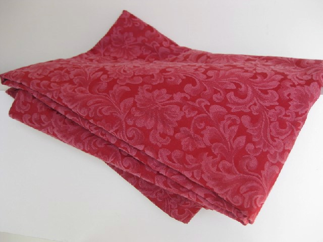 TAB0126 TABLECLOTH, Red Damask 1.5m x 2.15m $15
