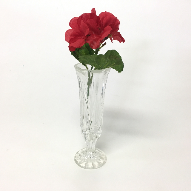 VAS0001 VASE, Cut Glass Bud Vase $3.75