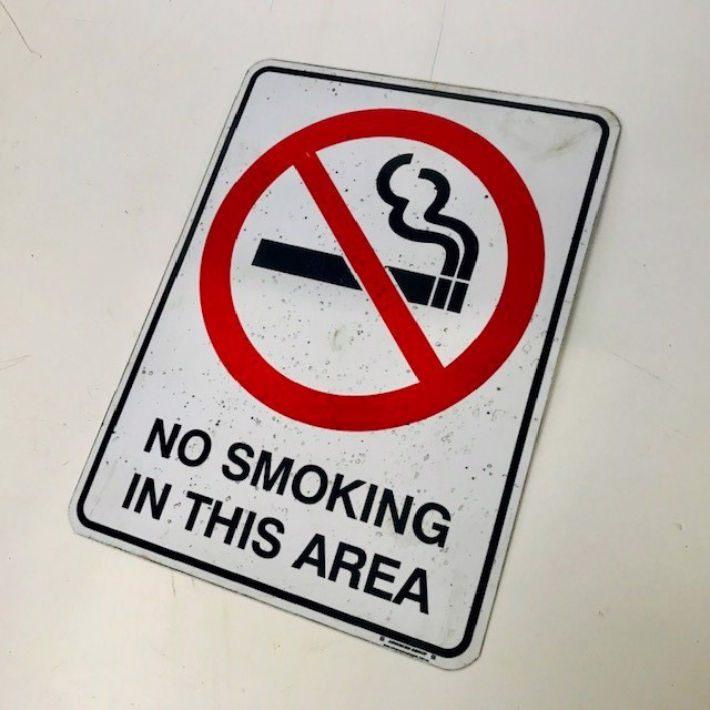 SIG0692 SIGN, Safety - No Smoking In This Area 23cm x 30cm H $7.50