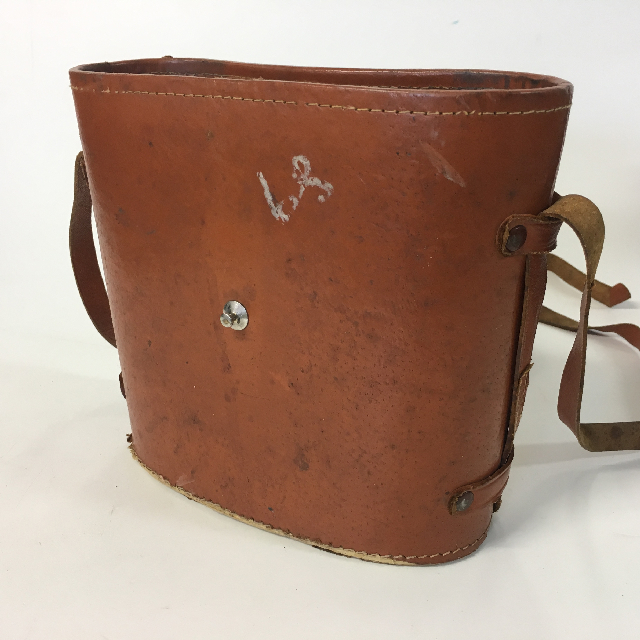 BIN0004 BINOCULAR CASE, Brown Leather - Missing Top $7.50