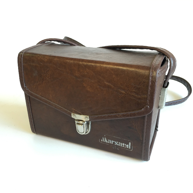 CAM0075 CAMERA CASE, Brown Vinyl Hard Case - Small Marsand $3.75