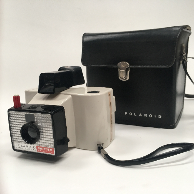 CAM0021 CAMERA, Polaroid Camera - Swinger in Black Hard Case $22.50