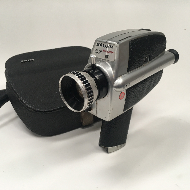 CAM0028 CAMERA, Super 8 - Bauer C3 in Case $22.50