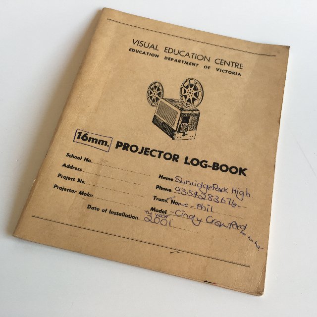 PRO0050 PROJECTOR LOG BOOK $3.75